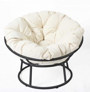 Papasan Chair Black White